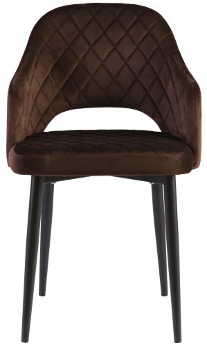 Block & Chisel brown velvet upholstered dining chair
