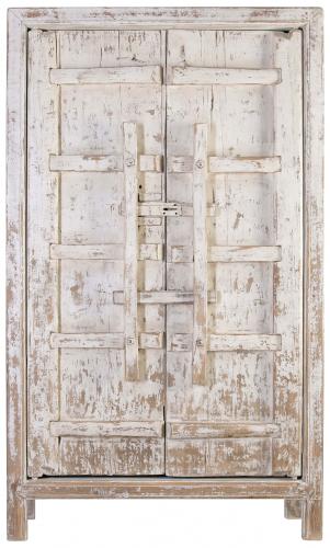 Block & Chisel oriental antique white 2 door wardrobe