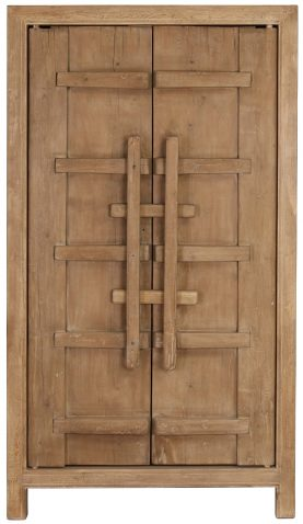 Block & Chisel oriental natural wooden 2 door wardrobe