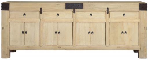 Block & Chisel oriental inspired old elm sideboard