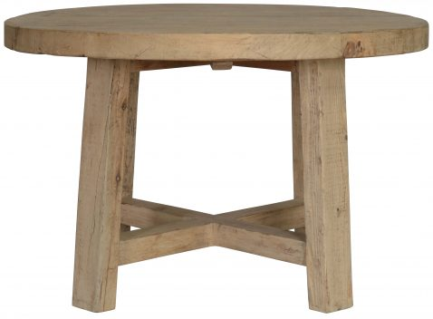 Block & Chisel round old pine dining table