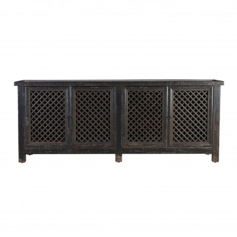 Block & Chisel black oriental inspired sideboard