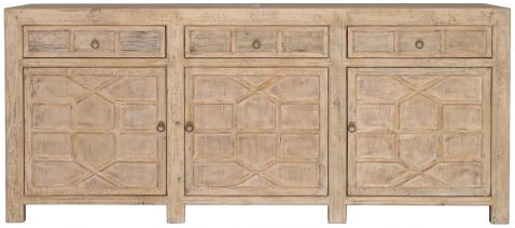 Block & Chisel natural old pine oriental inspired sideboard