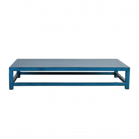 blue lacquered coffee table