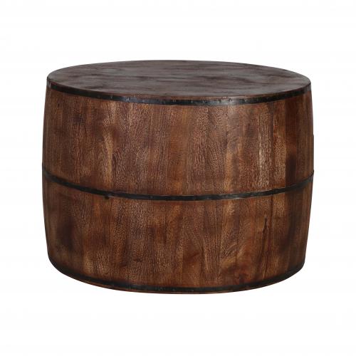 round mango wood coffee table