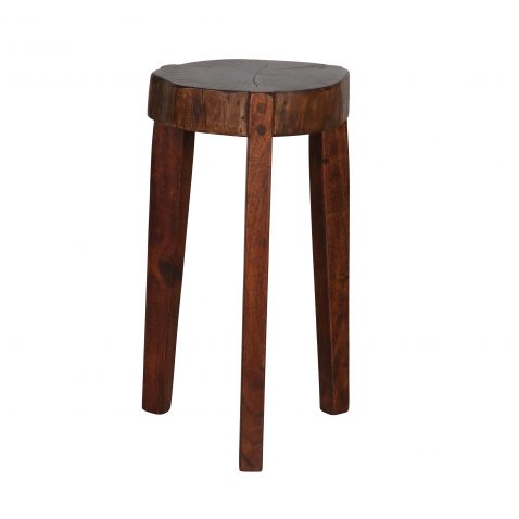 Tripod wooden stool made from acacia wood