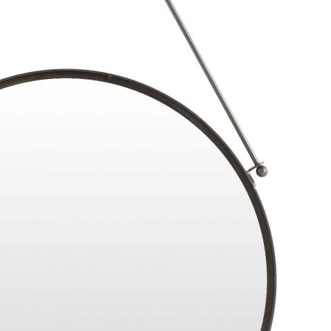 round hanging mirror in metal