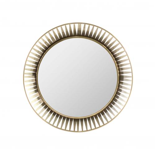 Block & Chisel round mirror gold