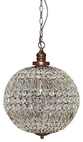 Block & Chisel iron and acrylic chandelier