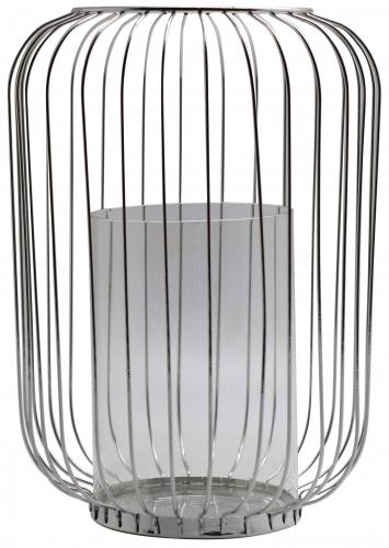 Block & Chisel iron and glass lantern