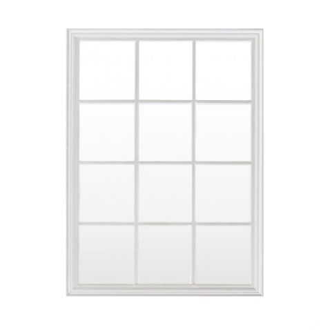 Block & Chisel rectangular panelled mirror with wooden frame