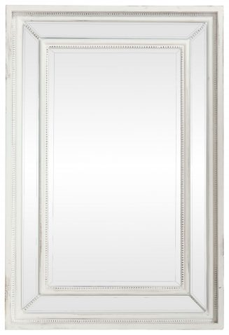 Block & Chisel White Distressed Mirror