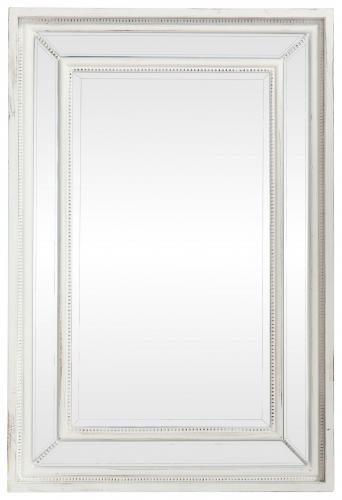 Block & Chisel White Distressed Mirror