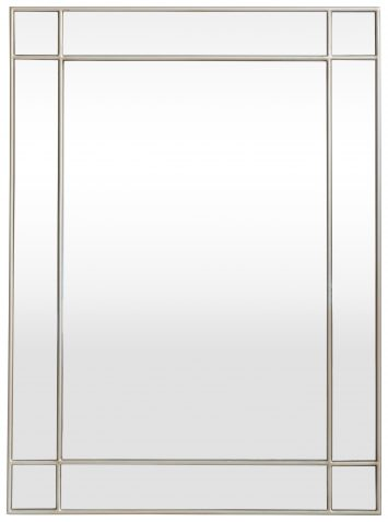 Block & Chisel rectangular mirror with silver wooden frame