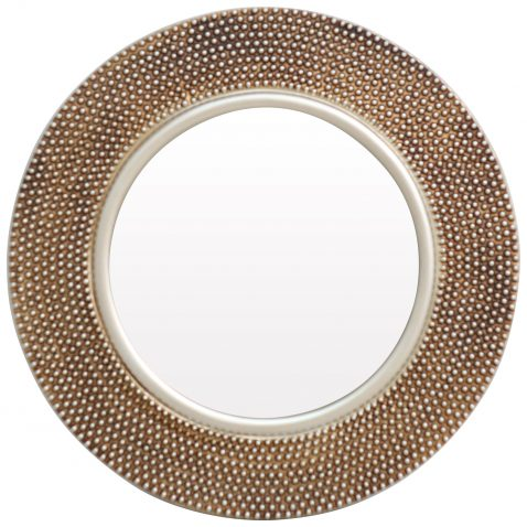 Block & Chisel round mirror with PU frame