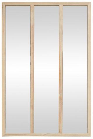 Block & Chisel rectangular mirror with wooden frame