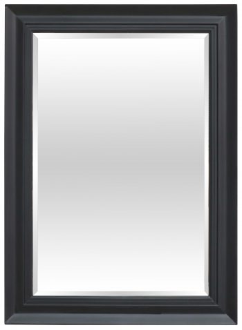 Block & Chisel rectangular mirror with matt black wooden frame