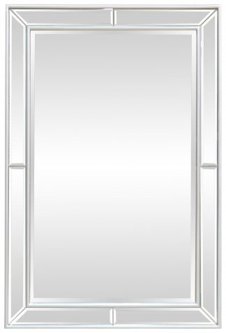 Block & Chisel rectangular mirror with wooden silver frame