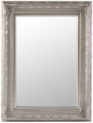 Block & Chisel rectangular mirror with antique silver bevel frame