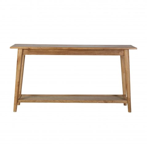 solid oak console with bottom shelf