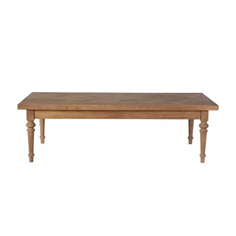 Elm coffee table with turned legs