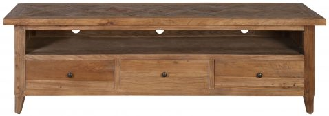 Block & Chisel rectangular recycled elm tv stand