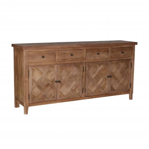 4 door 4 drawer elm sideboard