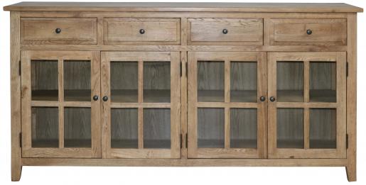 Block & Chisel oak wood sideboard with glass doors