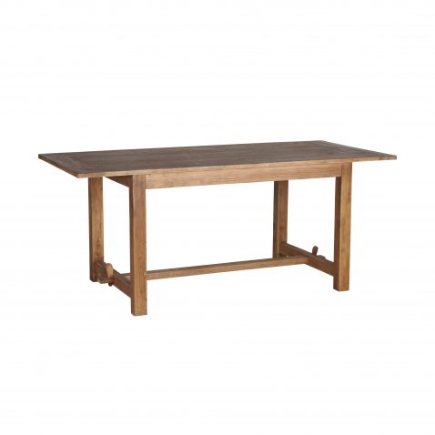 Block and chisel reclaimed elm dining table