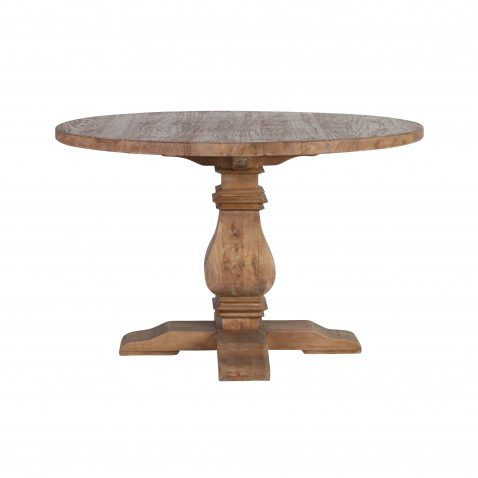 round elm wood dining table