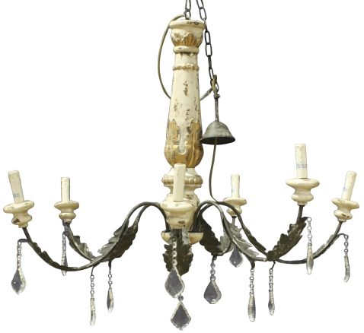 Block & Chisel 6 arm chandelier