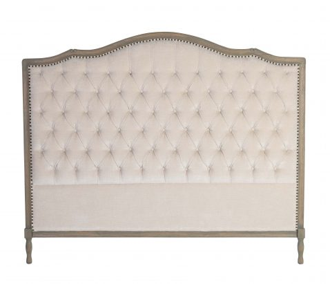 Margaret Headboard King size in Beige neutral with tufted detail with wooden frame