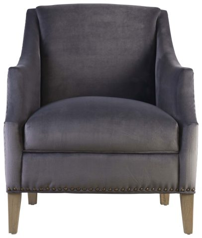 Block & Chisel grey velvet upholstered occasional chair