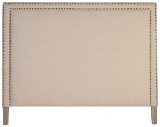 Block & Chisel linen upholstered king size headboard