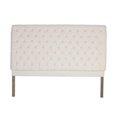Francis classic white tufted linen headboard