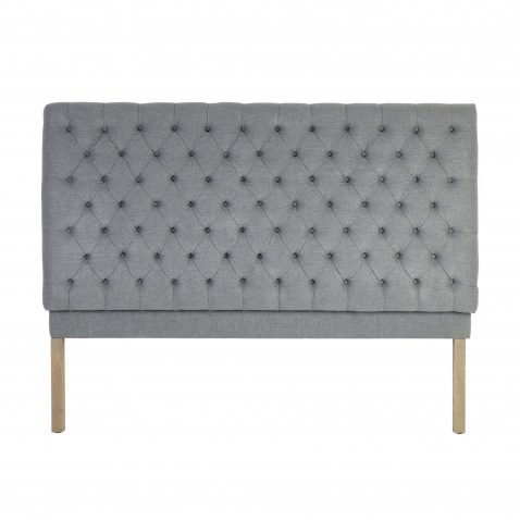 Francis classic grey tufted linen headboard