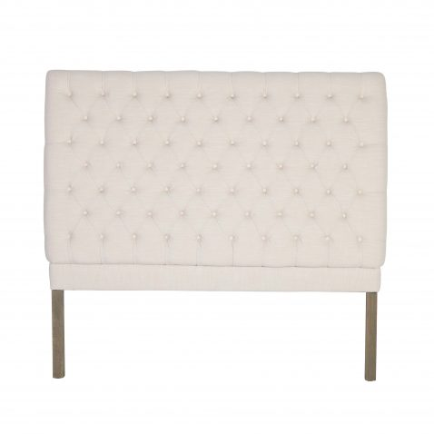 Francis classic white tufted linen headboard queen