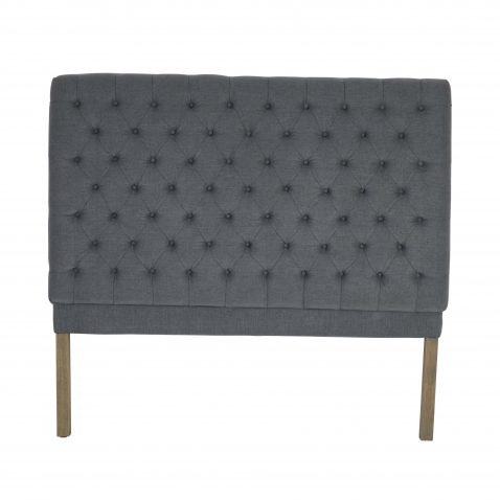 Francis classic dark grey tufted linen headboard queen