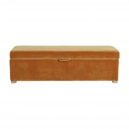 Walmer bedend in gold velvet with storage