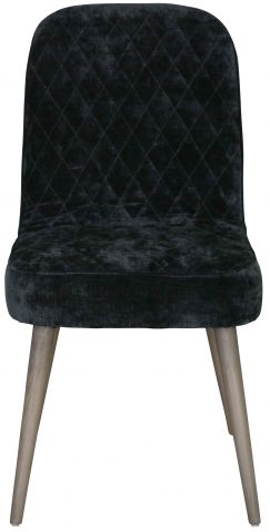 Block & Chisel black upholstered dining chair with beech wood legs