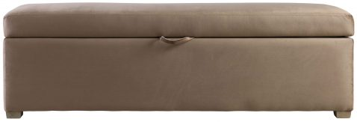 Block & Chisel beige velvet upholstered bedend