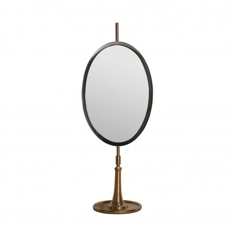 Block & Chisel oval table mirror