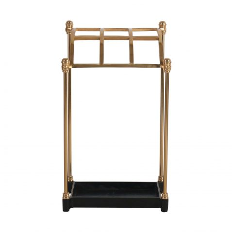 Block & Chisel gold and iron umbrella stand