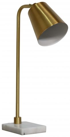 Block & Chisel metal desk lamp with marble base
