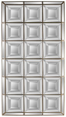 Block & Chisel rectangular mirror with block mirrored frame