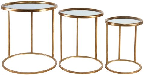 Block & Chisel round nesting side tables