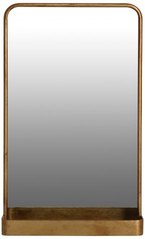 Block & Chisel rectangular mirror with iron frame in antique gold finish