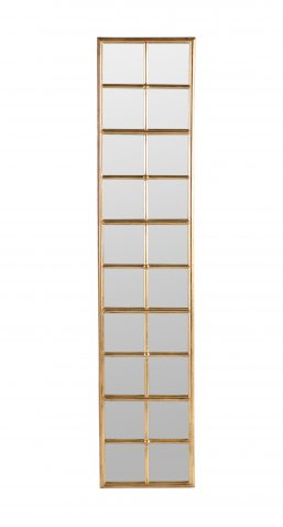 Rhonda Mirror - Tall long rectangular gold picture framed mirror