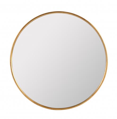 Rene Mirror - Round mirror with gold metal frame
