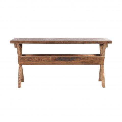 Recycled pine console with storage